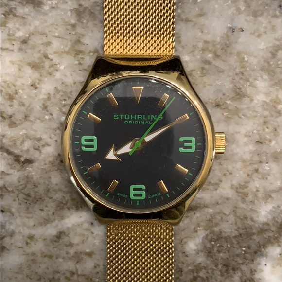Stuhrling Original Accessories - Stuhrling Original Gold Watch